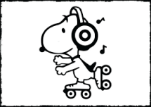 Snoopy playing